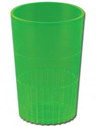 8 Gobelets en plastiques verts