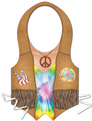 Tablier plastique hippie femme