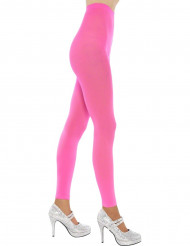 Collants sans pieds rose fluo adulte