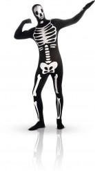 Combinaison seconde peau squelette phosphorescent