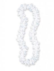 Collier Hawaï blanc 101 cm