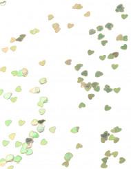 Confettis coeurs irisés