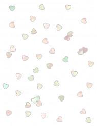 Confettis cœurs transparents irisés 14g