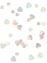 Confettis coeurs irisés relief