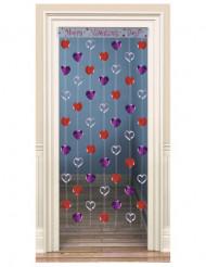 Décoration de porte coeurs Saint Valentin