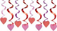 Décorations à suspendre coeur rouge Saint-Valentin