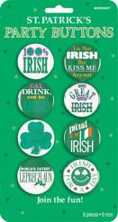 Badges humoristiques irlandais Saint-Patrick