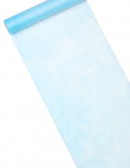 Chemin de table bleu clair 10 m de longueur