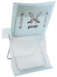 6 housses de chaises bleu clair pirate