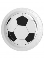 10 Assiettes en cartons ballon football 23 cm