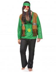 Déguisement hippie homme vert
