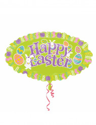 Ballon aluminum ovale Happy Easter Pâques