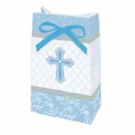 12 Sacs cadeaux communion bleu