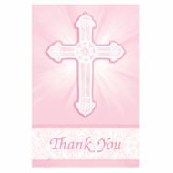 Cartes remerciements rose