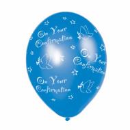 6 Ballons bleus Confirmation