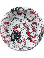 8 Assiettes en plastique Hello Kitty fun™ 23 cm