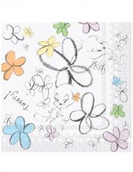 20 Serviettes en papier Titi Flower™ 33 x 33 cm
