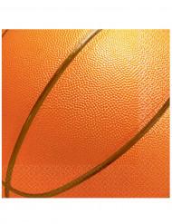 16 Serviettes en papier Basketball 33 x 33 cm