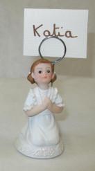 Figurine en résine marque place fille Communion