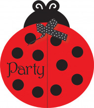8 Cartes d'invitations Coccinelle