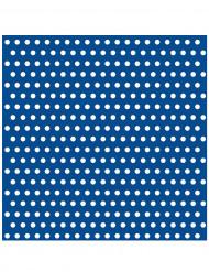 20 Serviettes en papier Bleu à pois 33 x 33 cm