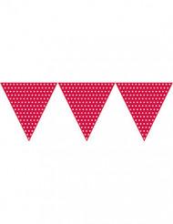 Guirlande fanions papier rouge à pois