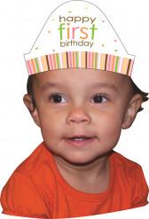 8 chapeaux carton Animaux Premier Anniversaire Fille