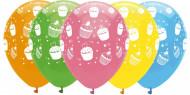 6 ballons latex Cupcake Anniversaire