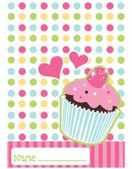 8 sachets plastique Cupcake Anniversaire