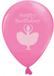 6 Ballons rose Danseuse Ballerine