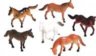 8 Figurines en plastique Chevaux Sauvages