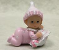 Figurine en résine bébé fille
