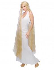 Perruque princesse cheveux longs femme
