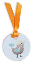 12 étiquettes carton oiseau Hippo