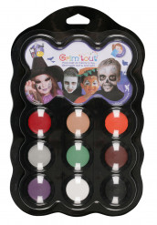 Palette maquillage 9 couleurs Halloween Grim Tout