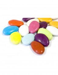 Dragées chocolat multicolore