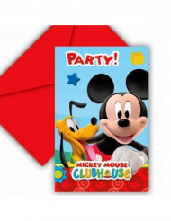 6 invitations carton Mickey Mouse™