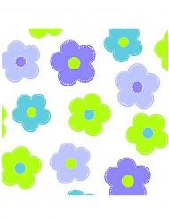 20 Serviettes en papier à fleurs 33 x 33 cm
