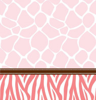 Nappe plastique 137 x 274 cm Baby Shower Safari Rose