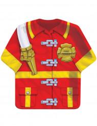 8 Assiettes en carton chemise de pompier 24 cm