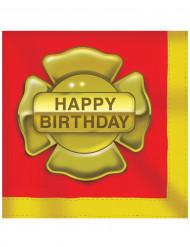 16 Serviettes en papier Chemise pompier