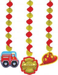 3 Décorations à suspendre pompier