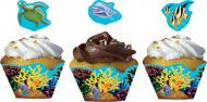 12 Moules à cupcake océan