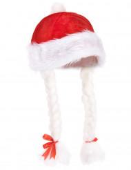 Bonnet de Noël adulte avec tresses
