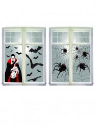 Décoration fenêtre scène de crime Halloween