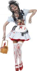 Déguisement zombie chaperon femme Halloween