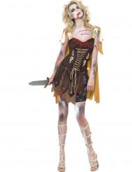 Déguisement zombie gladiateur sexy femme Halloween