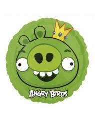 Ballon aluminum Angry Birds™ vert 45 cm