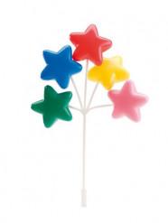 Décoration gâteau étoiles colorées