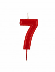 Bougie chiffre 7